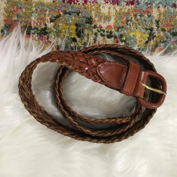 Talbots Accessories - Talbots • Boho Woven Genuine Leather Belt